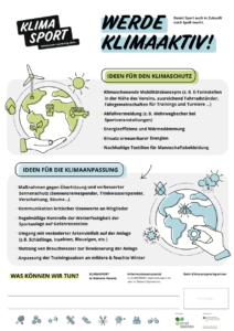 Plakat - Werde klimaaktiv